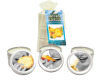 Bag Candle Tropical Trio Mango Margarita, Banana Daiquiri, Pineapple Breeze 2oz