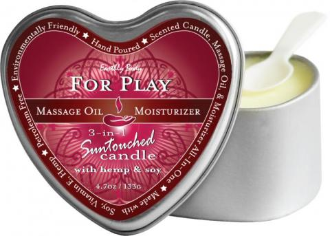 Earthly Body 3 In 1 Heart Massage Candle For Play 4oz