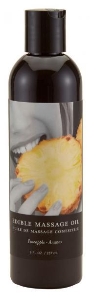 Earthly Body Edible Massage Oil Pineapple 8 Oz