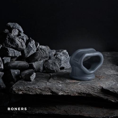 Boners Liquid Silicone 2 In 1 Ball Stretcher Gray