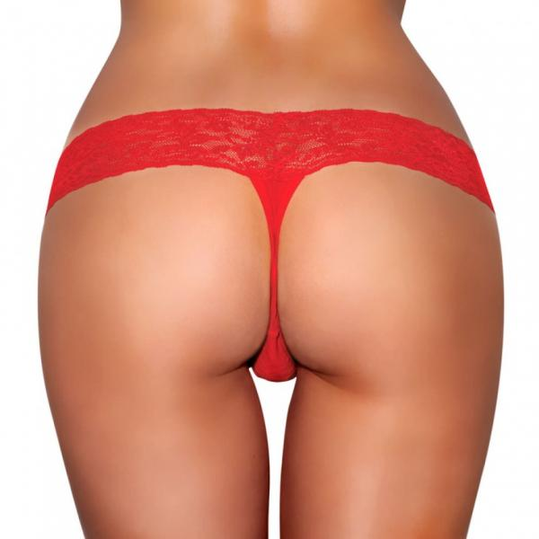 Vibrating Panties Vibe Pocket Red S/M