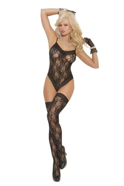 Lace Teddy & Stockings O/s