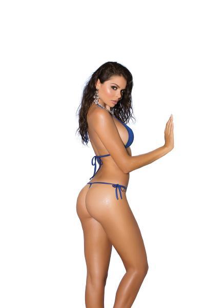 Bikini 2 Piece Swimwear Set Royal Blue O/S