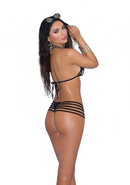 Bikini 2 Piece Swimwear Set Black O/S