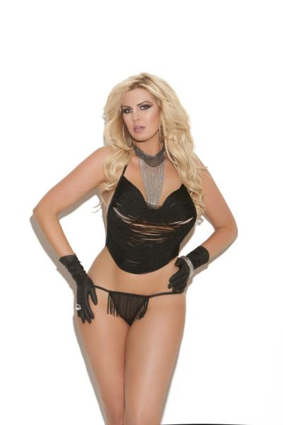 Vivace Cami Set Black Queen Size