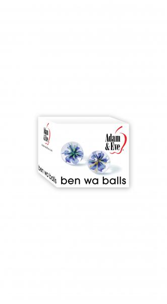 Adam & Eve Glass Ben Wa Balls Clear