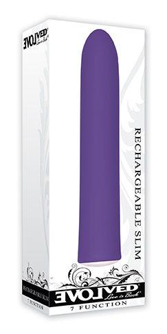 Evolved Rechargeable Slim Purple 7 Function Vibrator