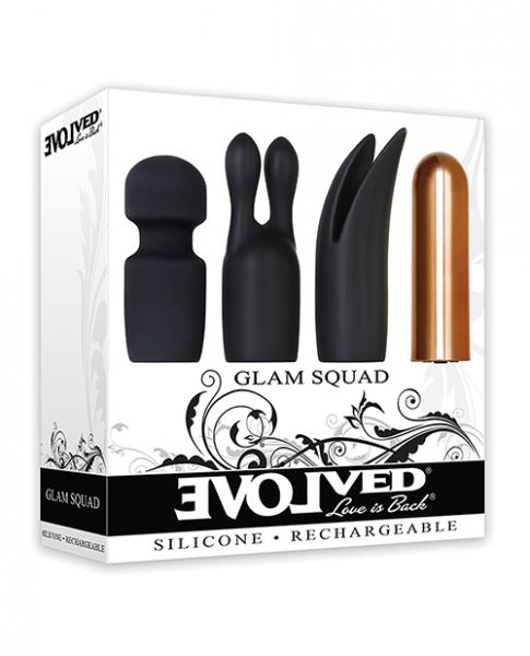 Glam Squad 3 Sleeves One Bullet Vibrator Black