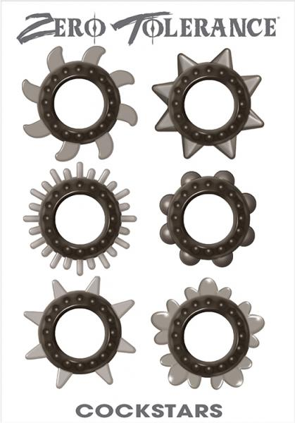 Cock Stars Cock Rings 6 Pack