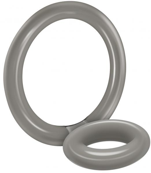 Bullseye Cock Ring Double Ring Smoke