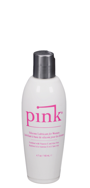 Pink Silicone Lube Flip Top Bottle 4.7 fluid ounces
