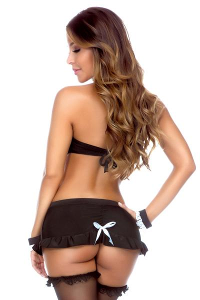 Play Maid Top Skirt Panty & Cuff Medium Large