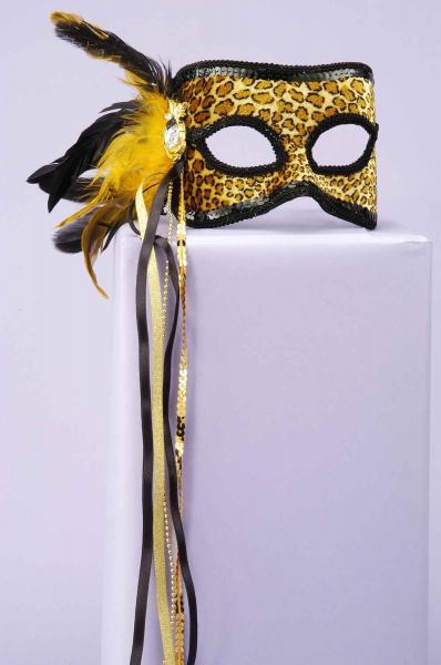Venetian Mask Leopard O/S