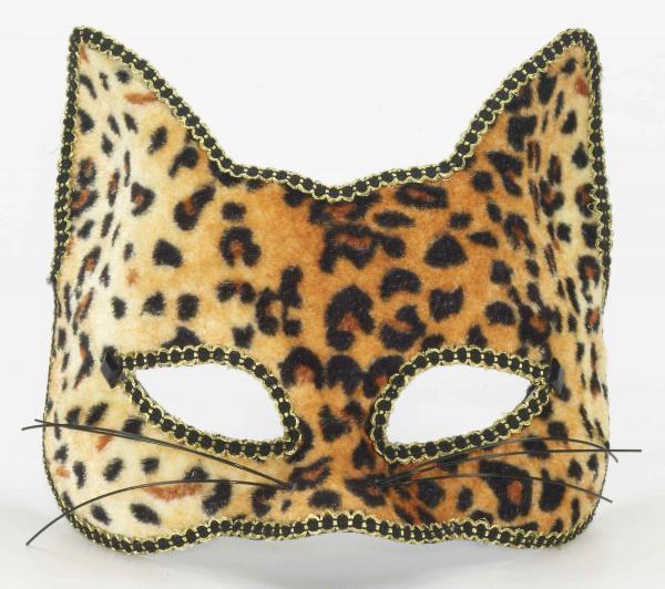 Venetian Half Mask Cat O/S