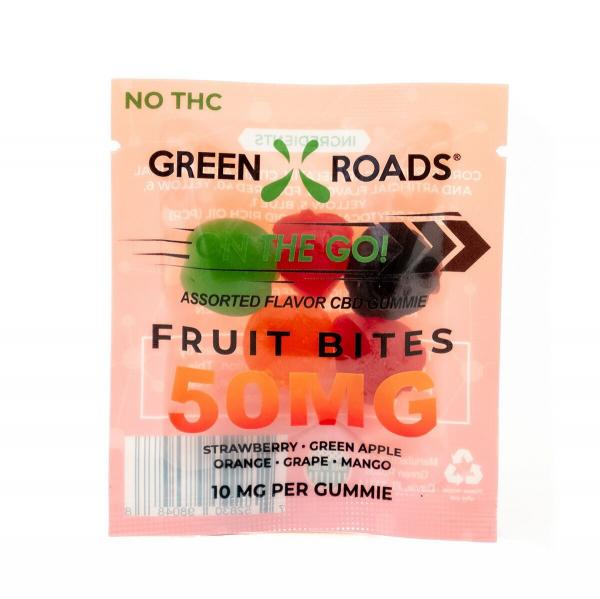 CBD Edibles 50mg Fruit Bites On The Go 5 Pack