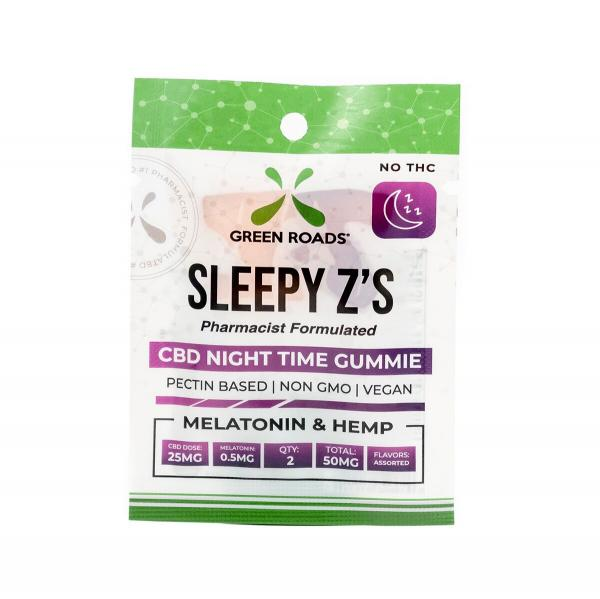 CBD Edibles 50mg Sleepy Z's 2 Pack Gummies Snacks