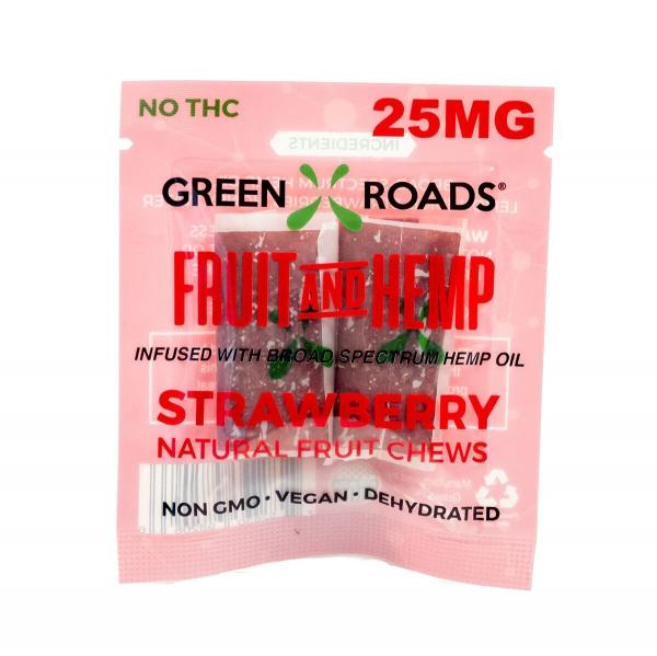 CBD Edibles 25mg On The Go Fruit + Hemp Strawberry 2 Pack