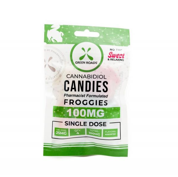Green Roads CBD Edibles 100mg Froggies Gummie 4 Pack
