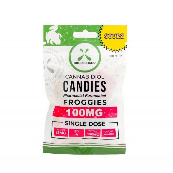 CBD Edibles 100mg Froggies Sour 4 Candies