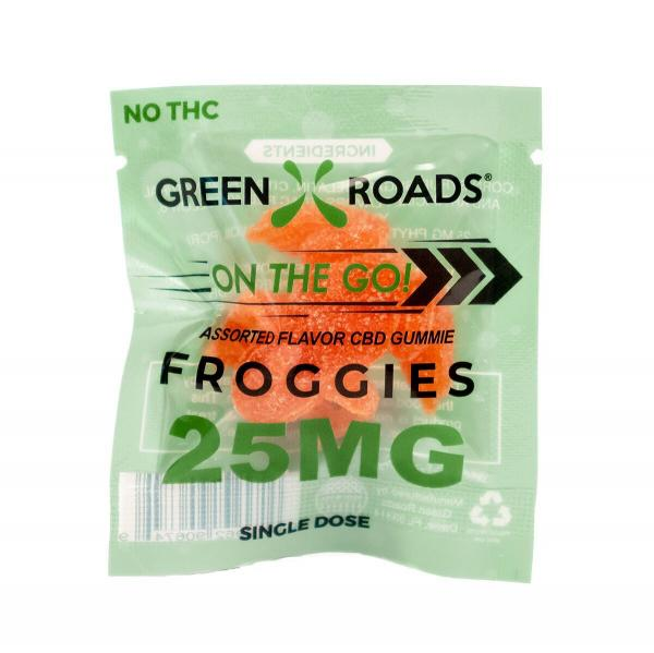 CBD Edibles 25mg Froggies On The Go Single Dose