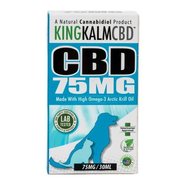 CBD Pets King Kalm 75mg 1oz Veterinarian Approved