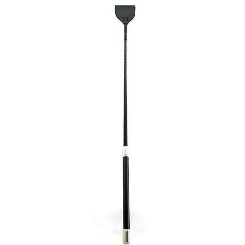 "Crop Leather Wide Tip Bat 26"" Black"