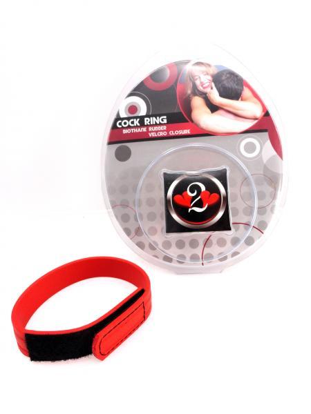 C Ring Biothane Velcro - Red