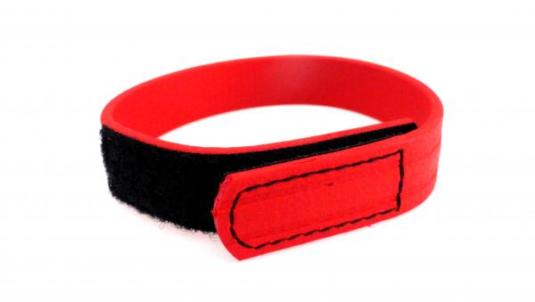 C Ring Biothane Velcro - Red