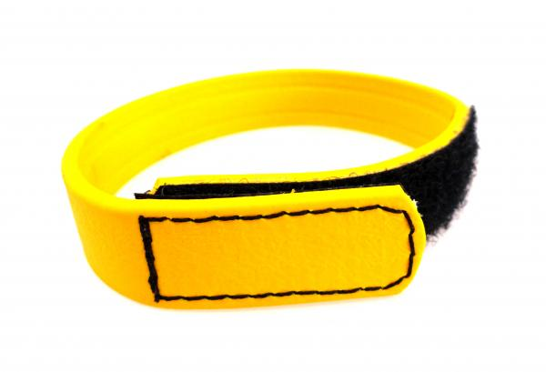 C Ring Biothane Velcro - Yellow