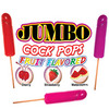 Jumbo Fruit Flavored Cock Pops 6Pc Disp.