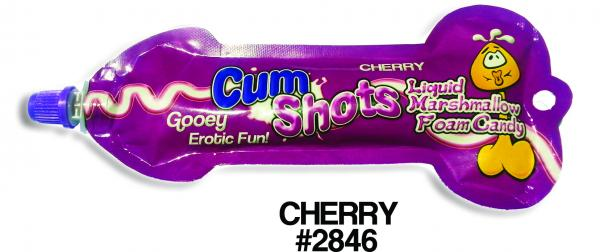 Cum Shots Liquid Marshmallow Foam Candy Cherry
