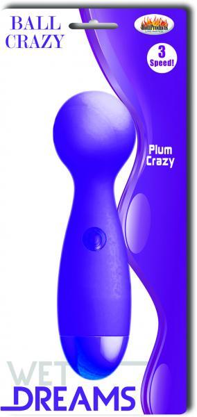 Ball Crazy Plum Purple Vibrator