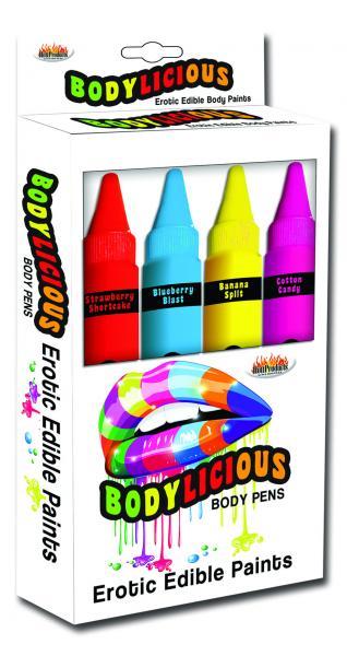 Bodylicious Edible Body Pens 4 Pack