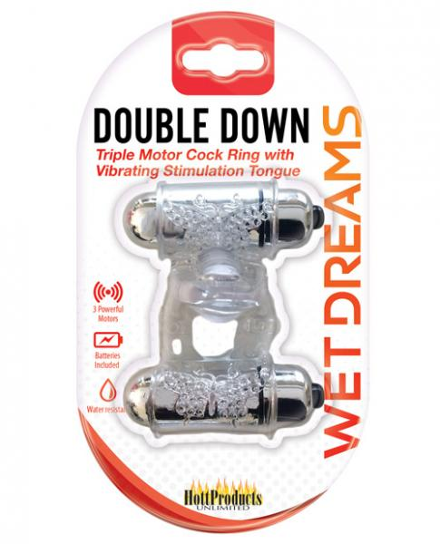 Double Down Cock Ring Bullet & Stimulator Tongue
