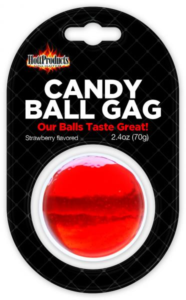 Candy Ball Gag Strawberry Flavored