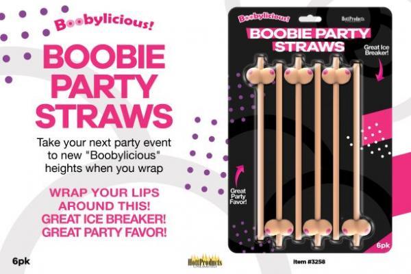 Boobie Straws Beige 6 Pack
