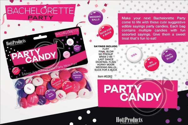 Bachelorette Party Candy Assorted Sayings Bag