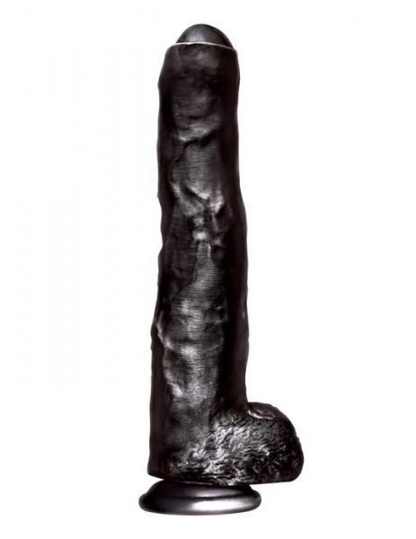 Big Black Cock Uncut Realistic Dildo 13.75 inches Dildo