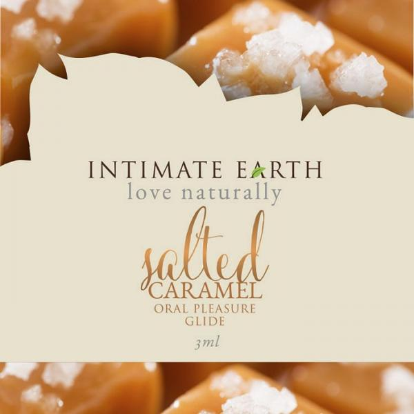 Intimate Earth Salted Caramel Flavored Glide Foil Pack .10oz