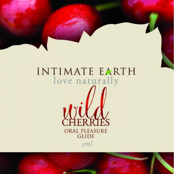 Intimate Earth Wild Cherries Flavored Glide Foil Pack .10oz