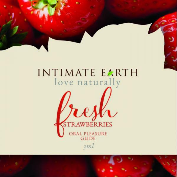 Intimate Earth Strawberry Flavored Glide Foil Pack .10oz