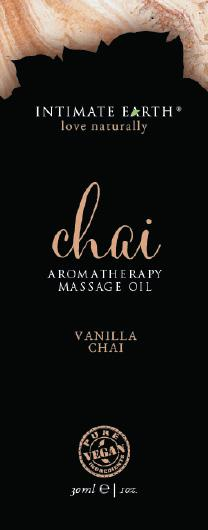 Intimate Earth Chai Massage Oil Foil Sachet 1oz