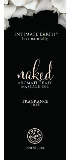 Intimate Earth Naked Unscented Massage Oil Foil Sachet 1oz