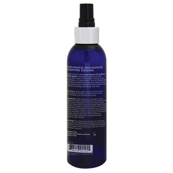 Pure Instinct Pheromone Body Spray True Blue 6oz
