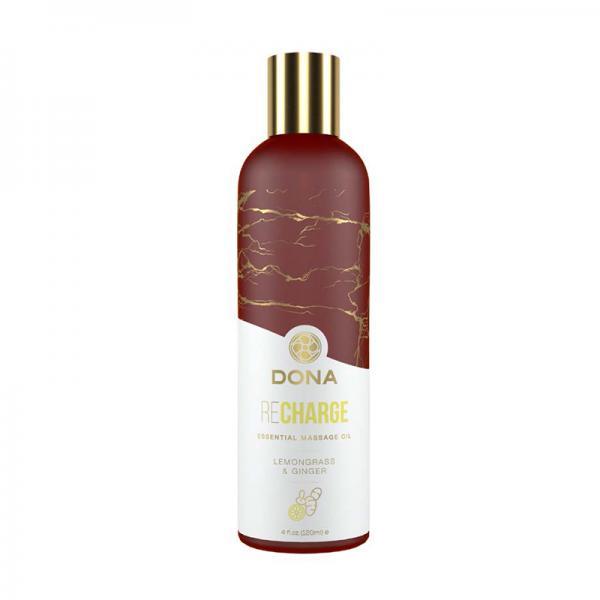 Dona Essential Massage Oil Recharge Lemongrass & Ginger
