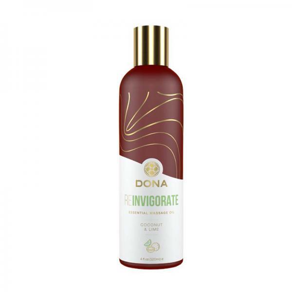 Dona Essential Massage Oil Reinvigorate Coconut & Lime 4oz