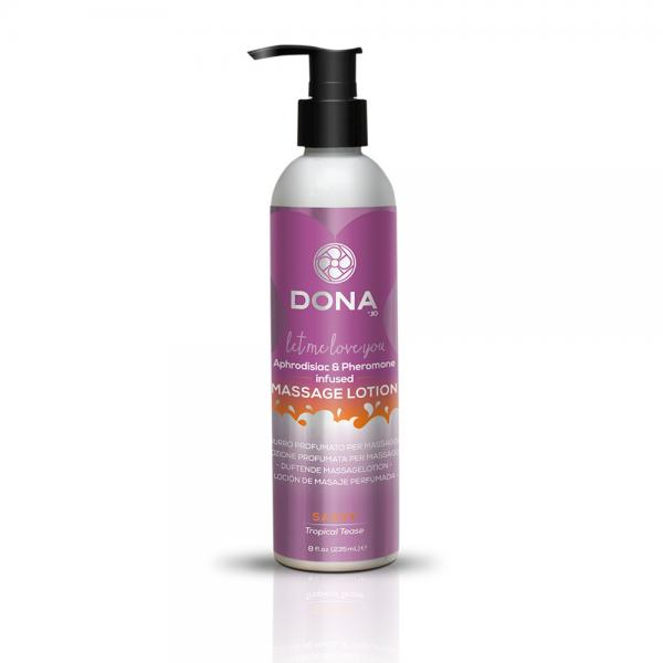 Dona Massage Lotion Sassy Tropical Tease 8oz