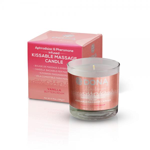 Dona Kissable Massage Candle Vanilla Buttercream 4.75oz