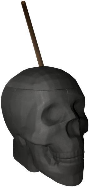Black Matte Skull Cup 22 ounces Capacity
