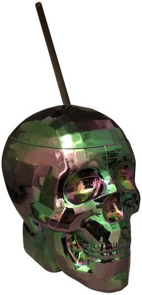 Oil Slick Skull Cup Multi-Color